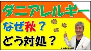 秋はダニのハウスダストアレルギーがひどくなる?症状の特徴や治し方は?秋の花粉症と見分けるには?大久保公裕先生が解説!